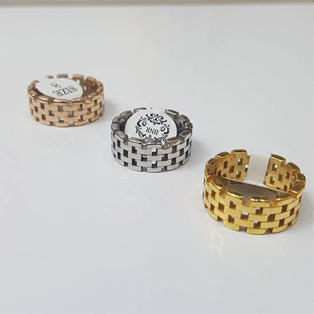 انگشتر رولکس طلایی نقره ای و رزگلد مارک ژوپینگ