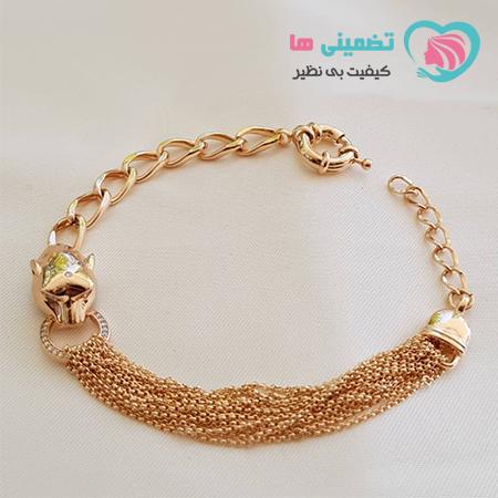 دستبند ببر طرح طلای ژوپینگ